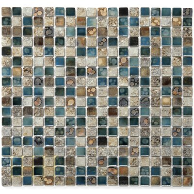 Terrene 0.6 x 0.6 Vale Porcelain Mosaic Tile in Multi