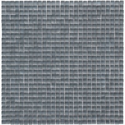 Atlantis 0.25 x 0.25 Glass Mosaic Tile in Gray