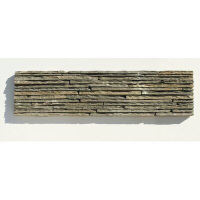 Portico Slate Random Sized Stone Splitface Tile in Dark Green