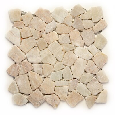 Decorative Pebbles Random Sized Natural Stone Pebble Tile in Alor Crystal