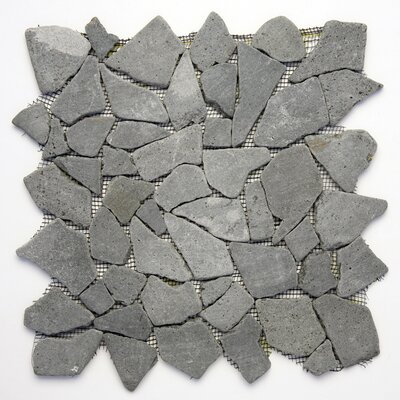 Decorative Pebbles Random Sized Natural Stone Pebble Tile in Java Black