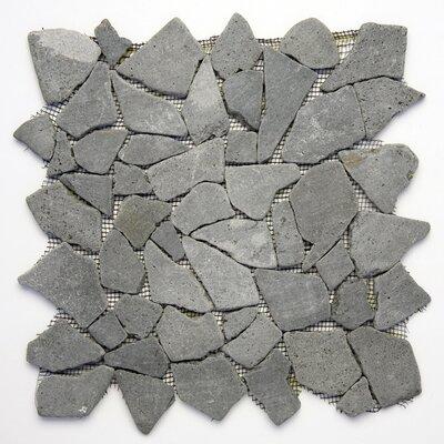 Decorative Pebbles Random Sized Natural Stone Pebble Tile in Java Black