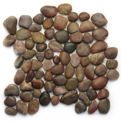 Decorative Random Sized Natural Stone Pebble Tile in Agate