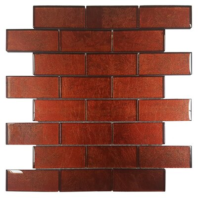 Folia Glass Subway Tile in Tamarind
