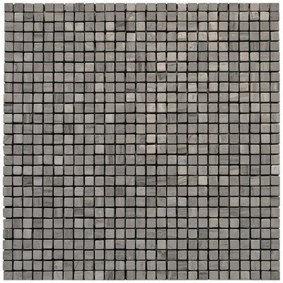 Micro 0.375 x 0.375 Marble Mosaic Tile in Haisa Dark