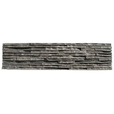 Portico Slate Random Sized Stone Splitface Tile in Black
