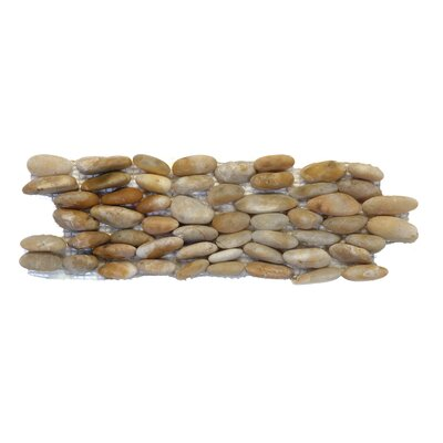 Standing Random Sized Natural Stone Pebble Tile in Crown