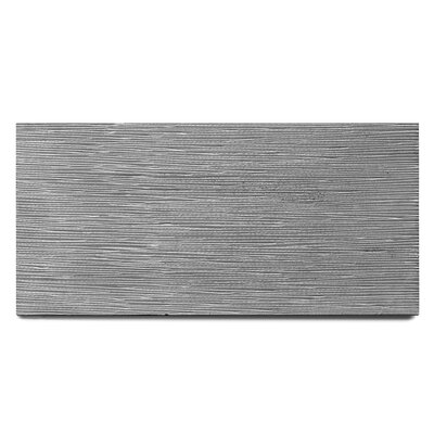 Basalt Engraved 15 x 30 Basalt Field Tile in Gray