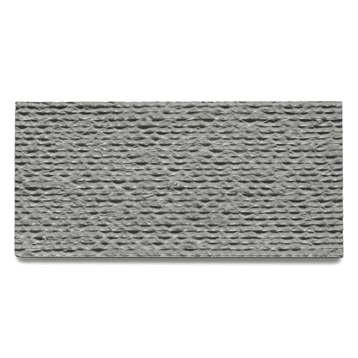 Basalt Striated 15 x 30 Basalt Splitface Tile in Gray
