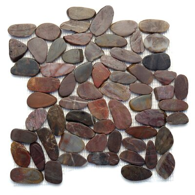 Koja Random Sized Natural Stone Pebble Tile in Cobra