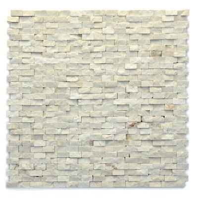 Modern 0.5 x 0.75 Marble Splitface in Fauve