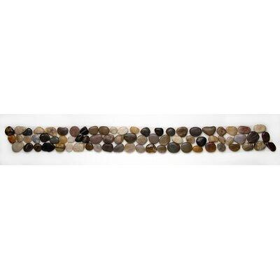 Decorative Pebbles 39 x 4 Interlocking Border Tile in Multi-color