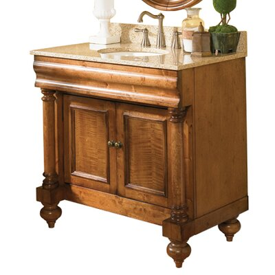 Guild Hall 36 Distressed Bathroom Vanity Base Base Finish: Distressed Black