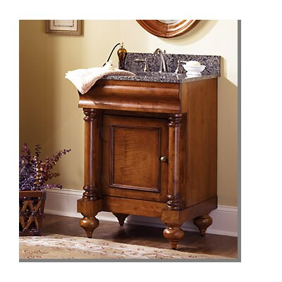 "Guild Hall 24"" One Door Bathroom Vanity Base Base Finish: Distressed Pecan"
