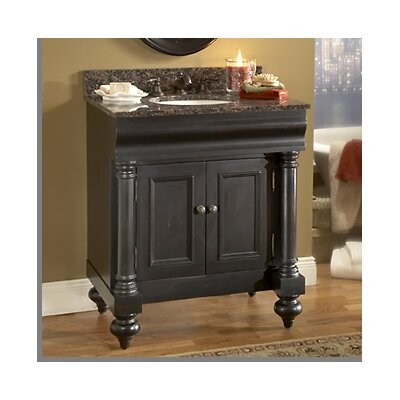 Guild Hall 30 Distressed Bathroom Vanity Base Base Finish: Distressed Pecan