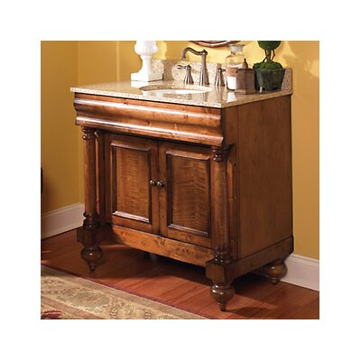 "Guild Hall 36"" Distressed Bathroom Vanity Base Base Finish: Distressed Black"