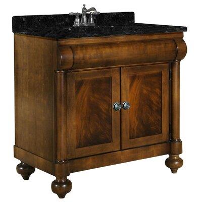 John Adams 36 Single Bathroom Vanity Set Top Finish: Black Granite