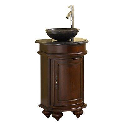 Arlington 20 Single Bathroom Vanity Set Base Finish: Distressed Cherry, Top Finish: Black Granite