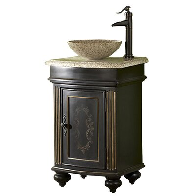 Arlington 21 Single Bathroom Vanity Set Base Finish: Ebony, Top Finish: Gold Hill Granite