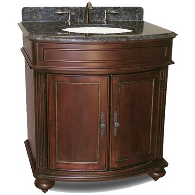 Arlington 31 Single Bathroom Vanity Set Base Finish: Distressed Cherry, Top Finish: Black Granite