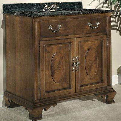 Dorchester 36 Single Bathroom Vanity Set Top Finish: Black Granite