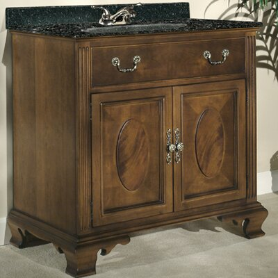 Dorchester 30 Single Bathroom Vanity Set Top Finish: Tan Brown Granite