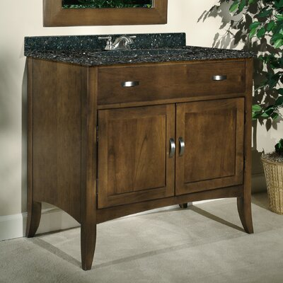 Metro 36 Single Bathroom Vanity Set Top Finish: Black Granite