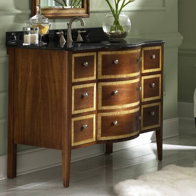 Guilford Manor 49 Single Bathroom Vanity Set Base Finish: Cognac, Top Finish: Gold Hill Granite