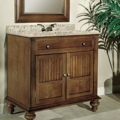 Barbados 30 Single Bathroom Vanity Set Top Finish: Green Granite