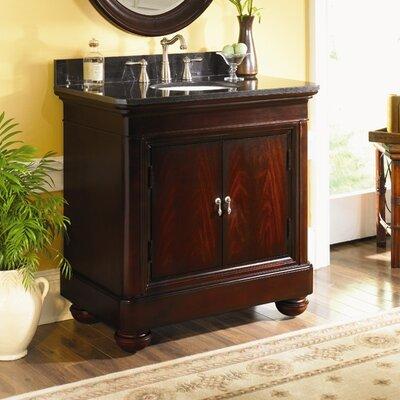 Mount Vernon 30 Single Bathroom Vanity Set Top Finish: Absolute Black