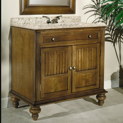 Barbados 36 Single Bathroom Vanity Set Top Finish: Black Granite