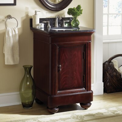 Mount Vernon 24 Single Bathroom Vanity Set Top Finish: Absolute Black