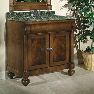 John Adams 36 Single Bathroom Vanity Set Top Finish: Green Granite