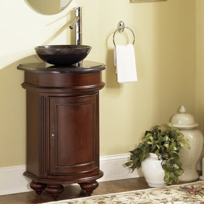 Arlington 20 Single Bathroom Vanity Set Base Finish: Ebony, Top Finish: Black Granite