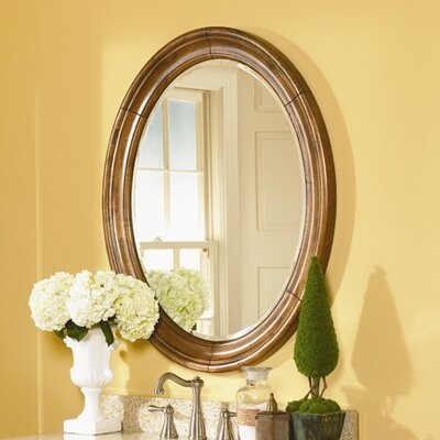 "Guild Hall 38"" H x 25"" W Small Vanity Mirror Finish: Distressed Pecan"