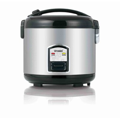7-cup Rice Cooker Warmer Steamer In Black