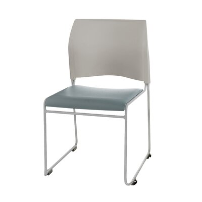 8700 Series Armless Office Guest Chair Seat Color: Blue & Grey