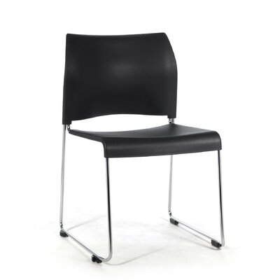 8800 Series Mid-Back Stacking Chair Color: Black