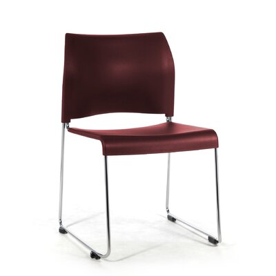 8800 Series Mid-Back Stacking Chair Color: Burgundy