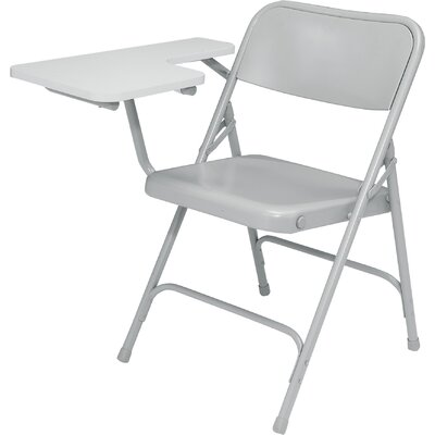 National Public Seating 5200 Series Steel Folding Chair with Tablet Arm - Color: Gray/Gray Right (Set of 2) at Sears.com