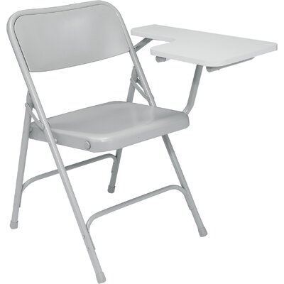 National Public Seating 5200 Series Steel Folding Chair with Tablet Arm - Color: Gray/Gray Left (Set of 2) at Sears.com