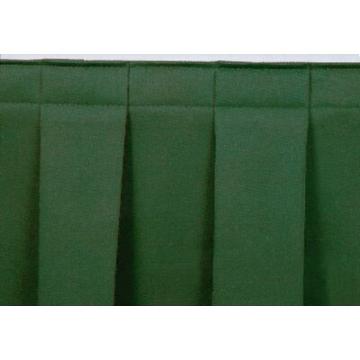 """National Public Seating Boxed-Pleat Stage Skirting - Height: 8"""", Fabric Color: Black, Length: 36"""" at Sears.com"""
