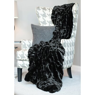 Couture Throw Color: Onyx Mink, Size: 60