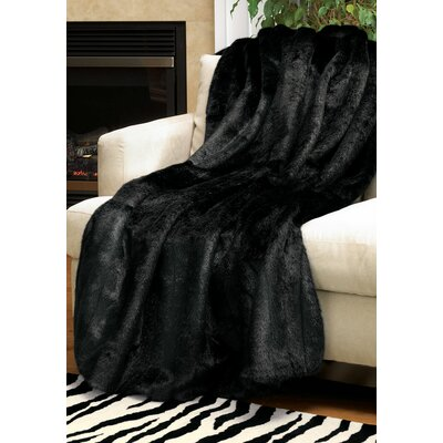 Limited Edition Series Throw Blanket Size: 60 L x 60 W, Color: Black Mink