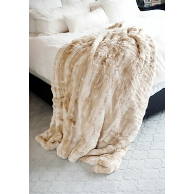 Couture Blonde Mink Throw Size: 60 L x 60 W