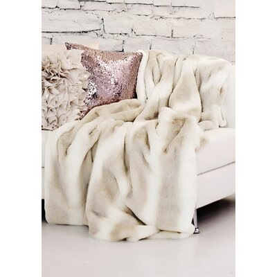 Couture Iced Mink Throw  Size: 72 L x 60 W