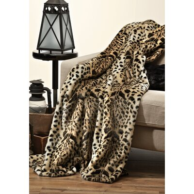 Signature Series Leopard Throw Size: 60 L x 60 W