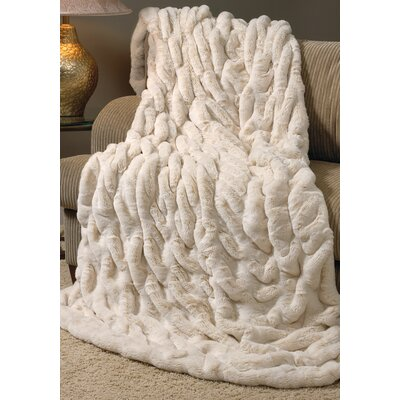 Couture Throw Color: Ivory Mink, Size: 60 L x 60 W
