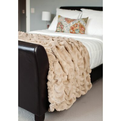 Limited Edition Series Throw Blanket Size: 86 L x 60 W, Color: Sandy Mink