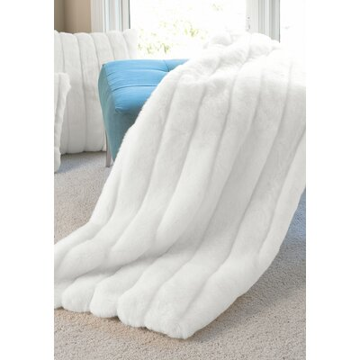 Limited Edition Series Throw Blanket Color: White Mink, Size: 72 H x 60 W